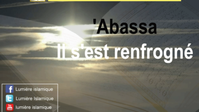 Photo de Interprétation de la sourate Il s'est renfrogné ( Abassa), versets 1 à 23